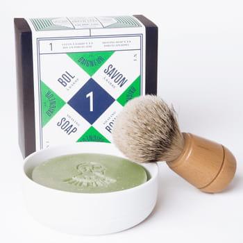 le savon de rasage artisanal bio le baigneur est fabriqué à partir d'ingrédients