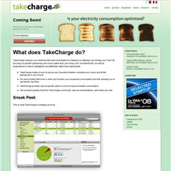 la page d'accueil de charge ventures
