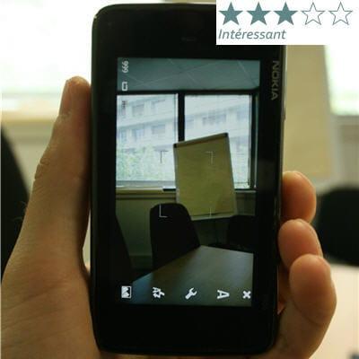 la fonction capteur photo sur le nokia n900