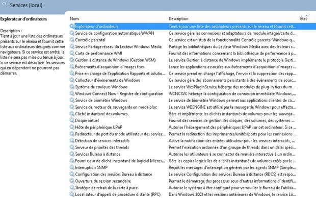 Désactiver les services inutiles (Windows)