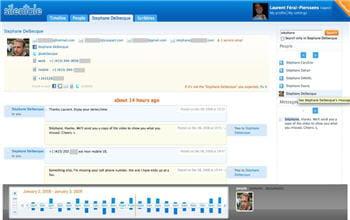 un exemple de conversation gérée par silentale