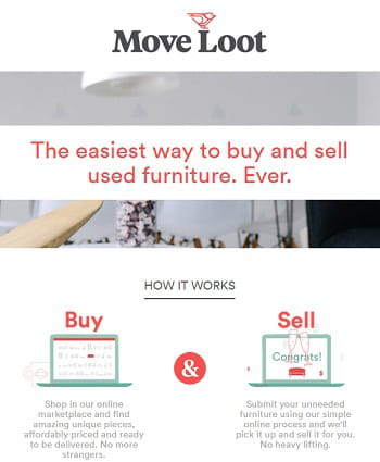 moveloot centralise l'achat-vente de meubles entre particuliers