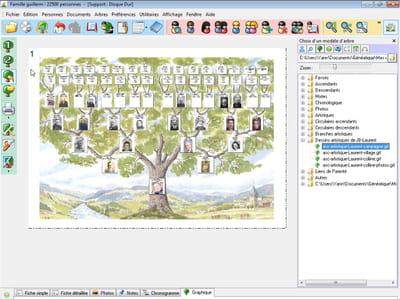 un joli affichage en arbre par généatique 2010