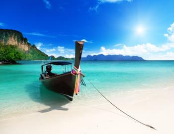 une vue de l'île de poda, en thaïlande.