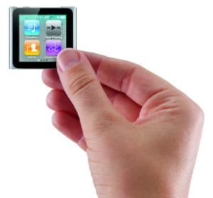 le nouvel ipod nano d'apple est deux fois plus léger et compact que le modèle de