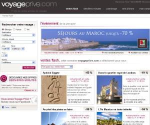 capture d'écran de voyage-prive.com