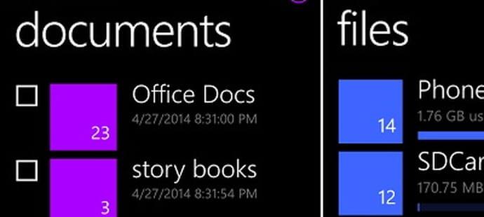 Windows Phone 8.1bientôt doté d'un système de fichiers