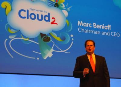 lors du discours inaugural, marc benioff, ceo de salesforce, a détaillé sa
