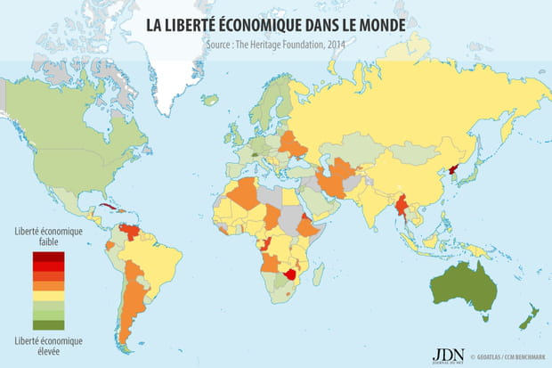 Les pays les plus libéraux économiquement