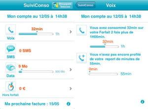 l'application suivi conso de bouygues telecom