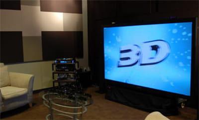 panasonic présente un ensemble home cinema 3d : avec un plasma de 2m60, et un