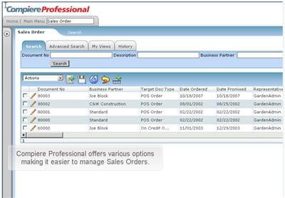 le module gestion des ventes sous compiere