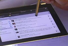 le réseau social d'entreprise de bouygues telecom a été adapté aux tablettes