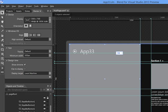 Visual Studio 2013boosté pour Windows 8.1
