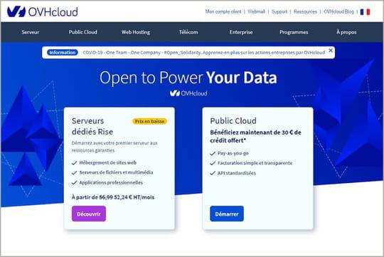 OVH : incident chez le cloud français, nombreux sites web impactés