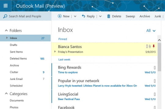 Outlook.com enrichi pour les pros: vers l'abandon d'Exchange Online?