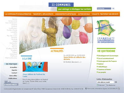 le site web de la communauté d'agglomération de carcassonne tourne sous spip