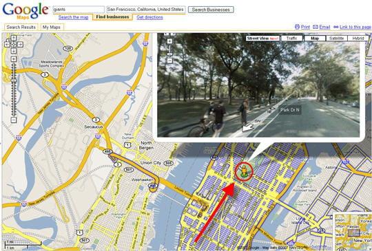 Se déplacer dans Google Street View