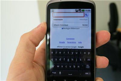 comme tout téléphone androïd la suggestion en recherche sur internet fait gagner
