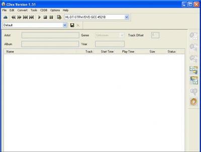 copie d'écran du logiciel proposée sur sourceforge.