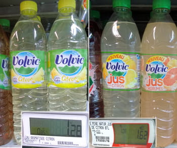 la recette de ce volvic citron a peut-être été améliorée, mais son prix,