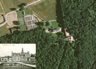 une vue aérienne du château de frogère.