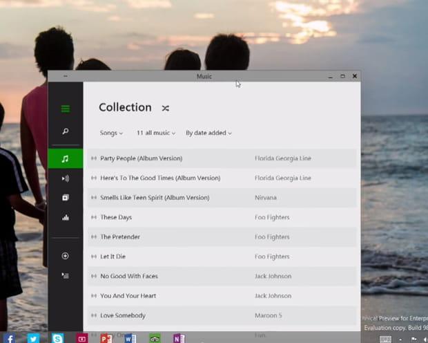 Des apps modernes sur le desktop