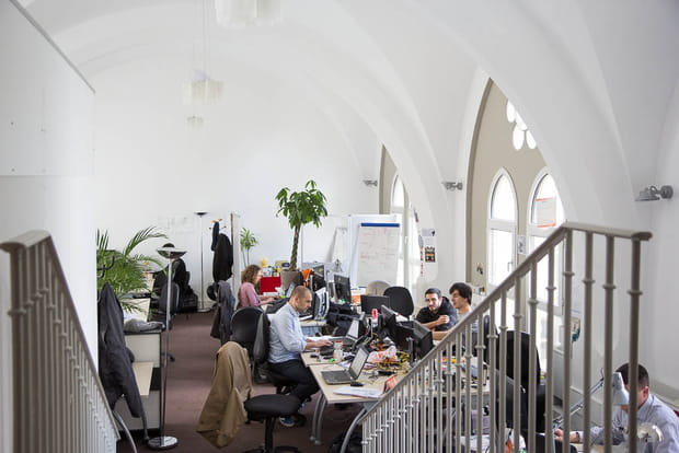 Des bureaux sous les voûtes