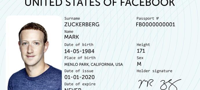 Facebook, futur pourvoyeur de passeports numériques?