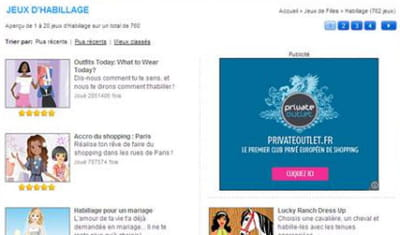 exemple d'une campagne private outlet utilisant google remarketing