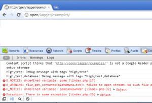 php console propose une console d'analyse de bug php.