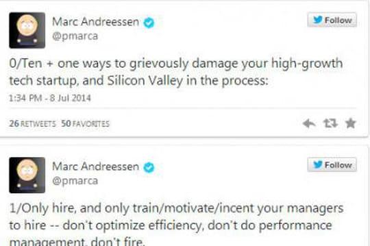 Les trucs et astuces de Marc Andreessen pour détruire une start-up à forte croissance