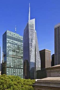 la tour bank of america à new york (manhattan).
