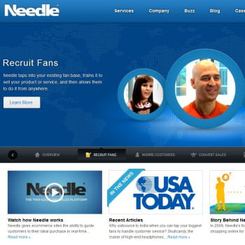 needle.com, chat de vente aux fans