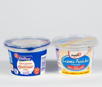 la crème fraîche délisse deleclerc est vendue 5centimes de moins que celle de