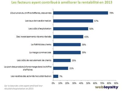facteurs ayant contribué à améliorer la rentabilité en 2013