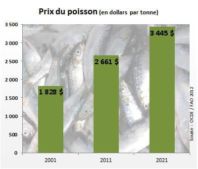 le prix du poisson atteindra 3445 dollars par tonne en 2021