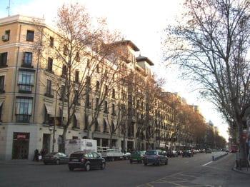 calle serrano, madrid, espagne