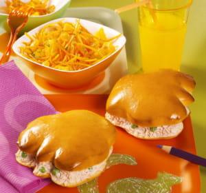 ces menus pour enfants sont vendus en kits sandwich + salade.