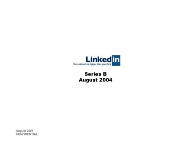 LinkedIn a levé 10millions de dollars grâce à cette présentation