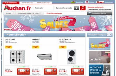 rubrique 'soldes' du site auchan.fr
