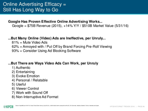 Efficacité publicitaire: le chemin est encore long