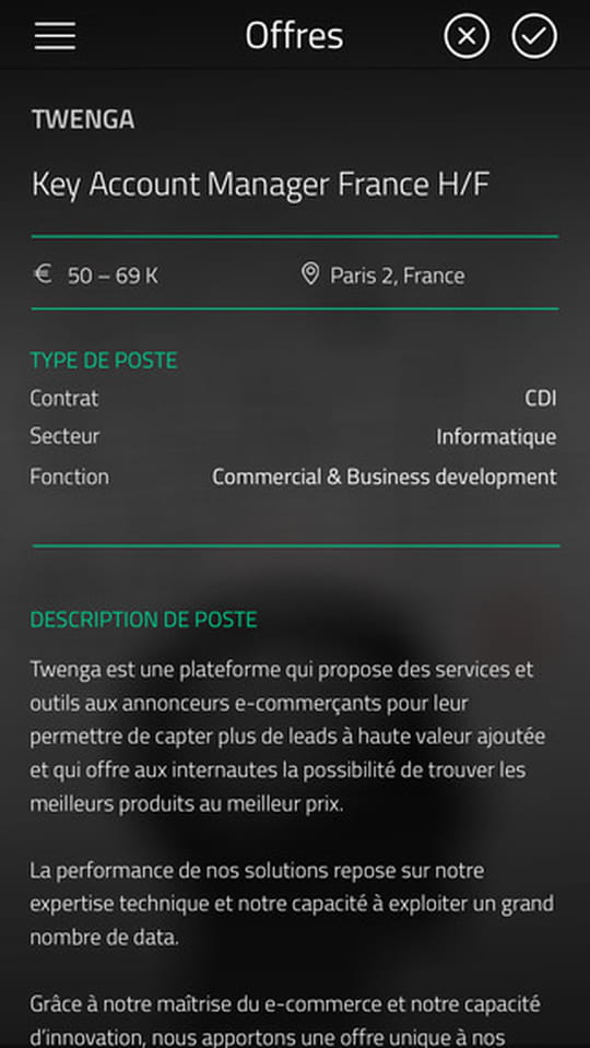 Kudoz un mix de tinder et twitter adapt au recrutement - Offre d emploi office manager ile de france ...