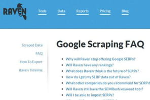 SEO : la suite Raven renonce à analyser les pages de résultats