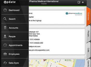 pour utiliser crmpad, il est nécessaire de déployer le module 'mobile services'