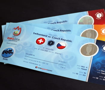 les billets vendus pour l'euro 2008.