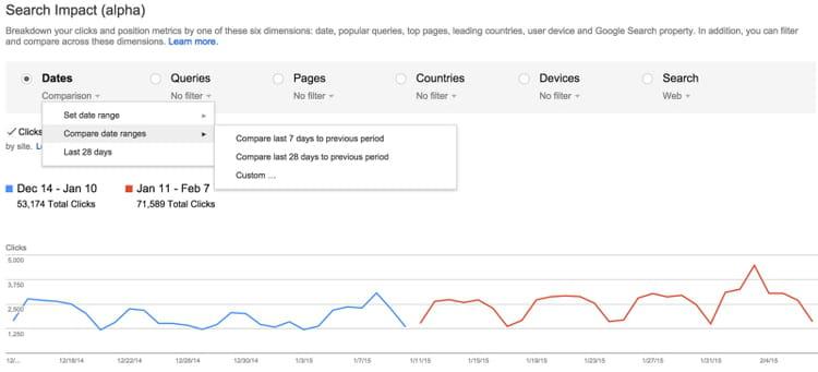google search impact dates compare 2 800x364