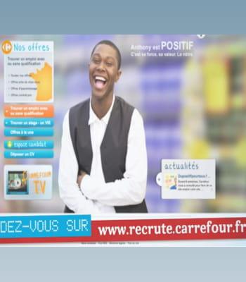 carrefour a créé un site interactif pour promouvoir ses recrutements.