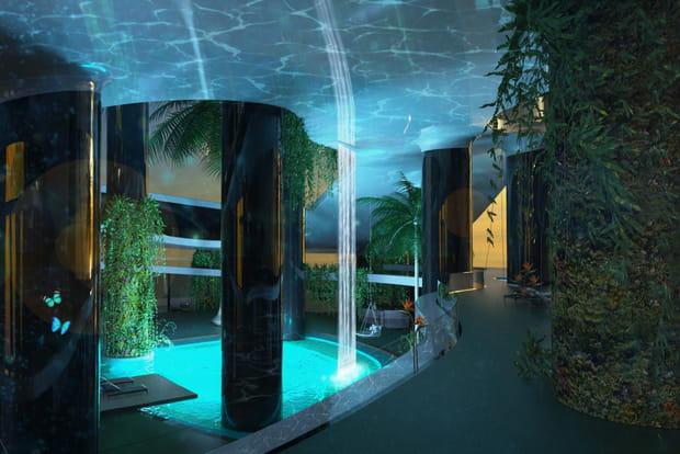 Après le pont-jungle, le pont-spa...
