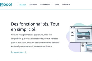 Poool, un wall dynamique pour augmenter les revenus des éditeurs